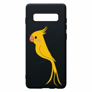 Etui na Samsung S10+ Yellow parrot