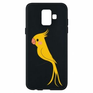 Etui na Samsung A6 2018 Yellow parrot