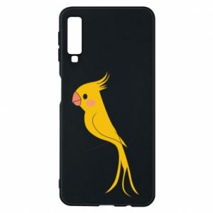Etui na Samsung A7 2018 Yellow parrot