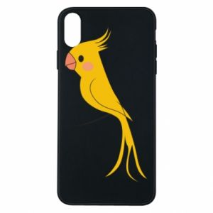 Etui na iPhone Xs Max Yellow parrot