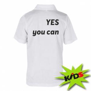 Dziecięca koszulka polo YES you can