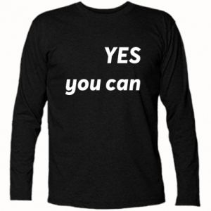 Koszulka z długim rękawem YES you can