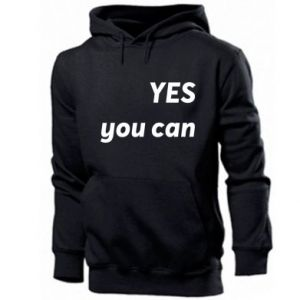 Men's hoodie YES you can