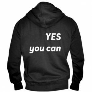 Męska bluza z kapturem na zamek YES you can