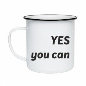 Kubek emaliowane YES you can