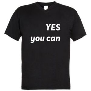 Męska koszulka V-neck YES you can