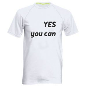 Men's sports t-shirt YES you can