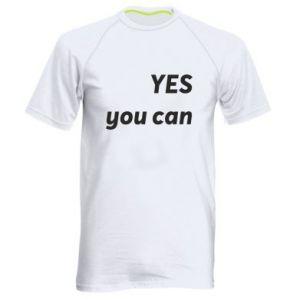 Męska koszulka sportowa YES you can