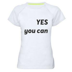 Damska koszulka sportowa YES you can