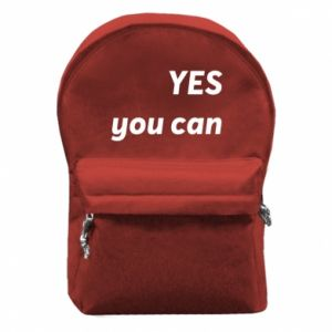 Backpack with front pocket YES you can