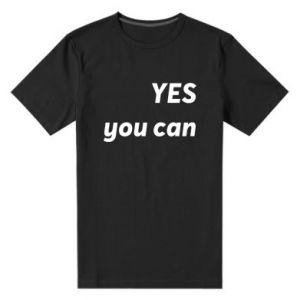 Męska premium koszulka YES you can