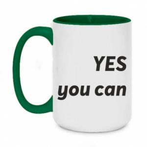 Two-toned mug 450ml YES you can