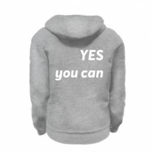 Bluza na zamek dziecięca YES you can