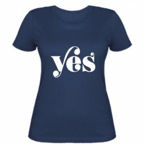 Damska koszulka YES