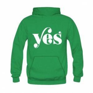 Bluza z kapturem dziecięca YES