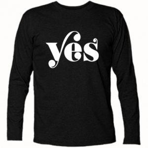 Koszulka z długim rękawem YES