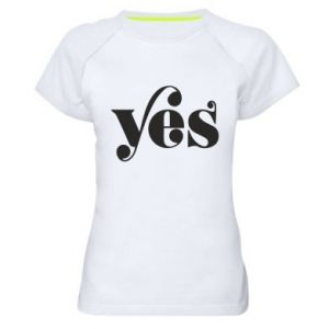 Damska koszulka sportowa YES