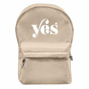 Plecak z przednią kieszenią YES