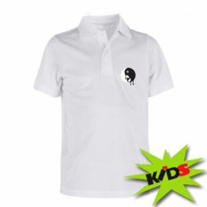 Children's Polo shirts Yin-Yang smudges - PrintSalon