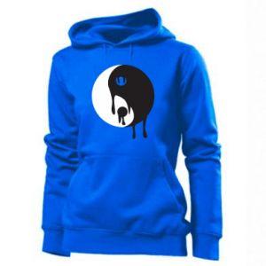 Women's hoodies Yin-Yang smudges - PrintSalon