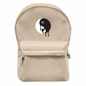 Backpack with front pocket Yin-Yang smudges - PrintSalon