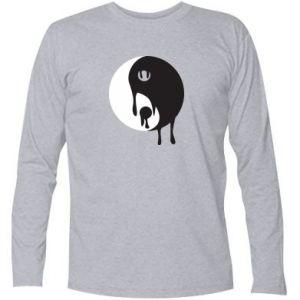 Long Sleeve T-shirt Yin-Yang smudges - PrintSalon