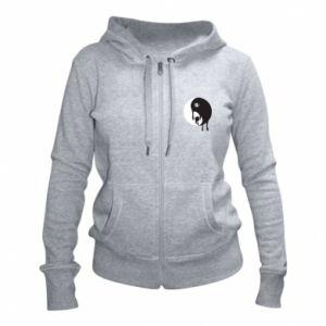 Women's zip up hoodies Yin-Yang smudges - PrintSalon