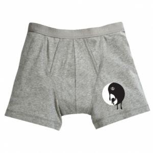 Boxer trunks Yin-Yang smudges
