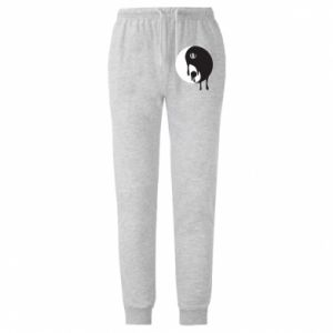 Męskie spodnie lekkie Yin-Yang smudges - PrintSalon