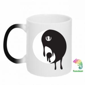 Chameleon mugs Yin-Yang smudges - PrintSalon