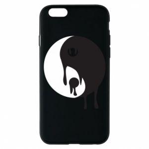 Phone case for iPhone 6/6S Yin-Yang smudges - PrintSalon