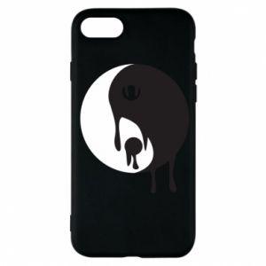 Phone case for iPhone 7 Yin-Yang smudges - PrintSalon