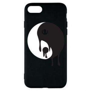 Phone case for iPhone 8 Yin-Yang smudges - PrintSalon
