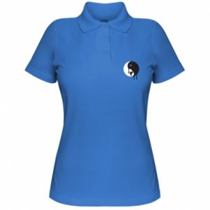 Women's Polo shirt Yin-Yang smudges
