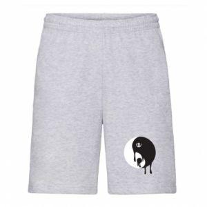 Men's shorts Yin-Yang smudges - PrintSalon