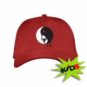 Kids' cap Yin-Yang smudges - PrintSalon
