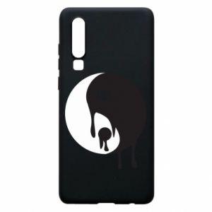 Phone case for Huawei P30 Yin-Yang smudges - PrintSalon