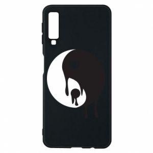 Phone case for Samsung A7 2018 Yin-Yang smudges - PrintSalon