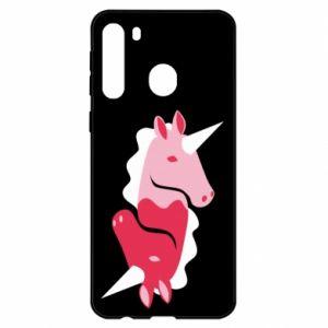 Etui na Samsung A21 Yin-Yang Unicorns