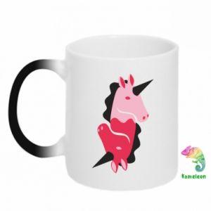 Kubek-kameleon Yin-Yang Unicorns