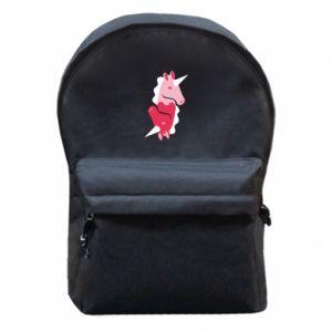 Plecak z przednią kieszenią Yin-Yang Unicorns