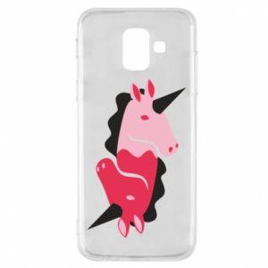 Etui na Samsung A6 2018 Yin-Yang Unicorns