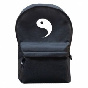 Backpack with front pocket Yin - PrintSalon