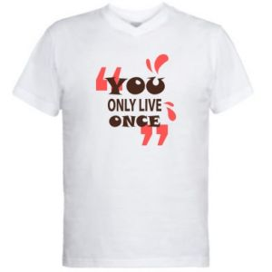 Men's V-neck t-shirt YOLO