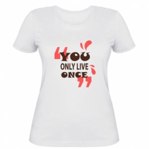 Women's t-shirt YOLO