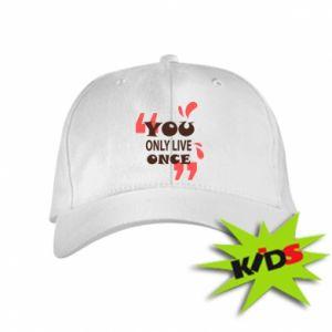 Dziecięca czapeczka z daszkiem YOLO - PrintSalon