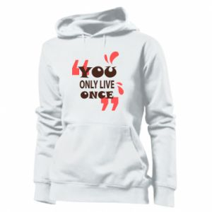 Women's hoodies YOLO