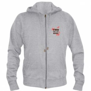 Men's zip up hoodie YOLO