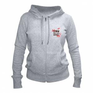 Women's zip up hoodies YOLO
