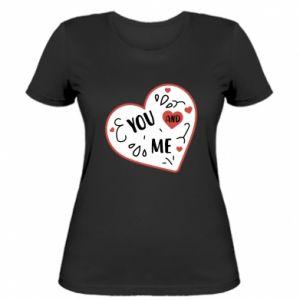 Damska koszulka You and me
